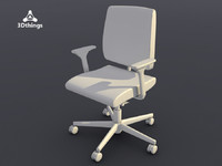 Black Dot Swivel chair 3D adjustable armests