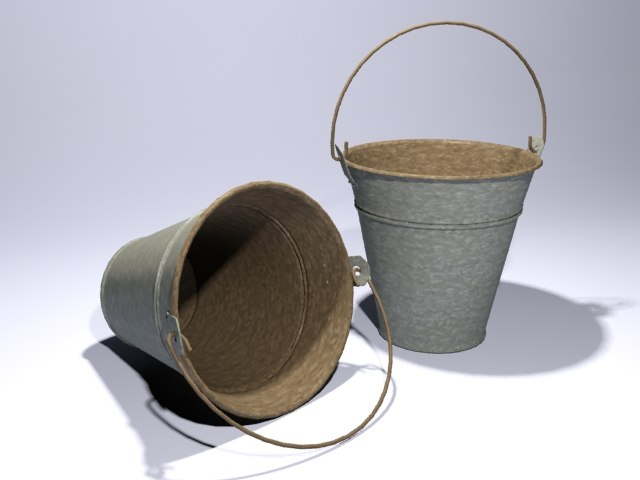 3d bucket modelled mental-ray model
