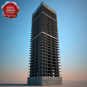 3d building construction v5 model