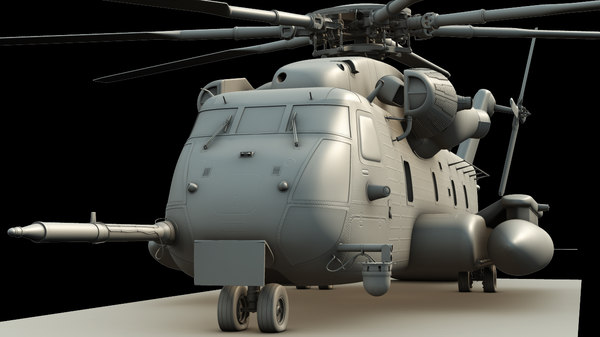 3d model of ch-53e super stallion helicopter