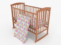 baby cot 3d max