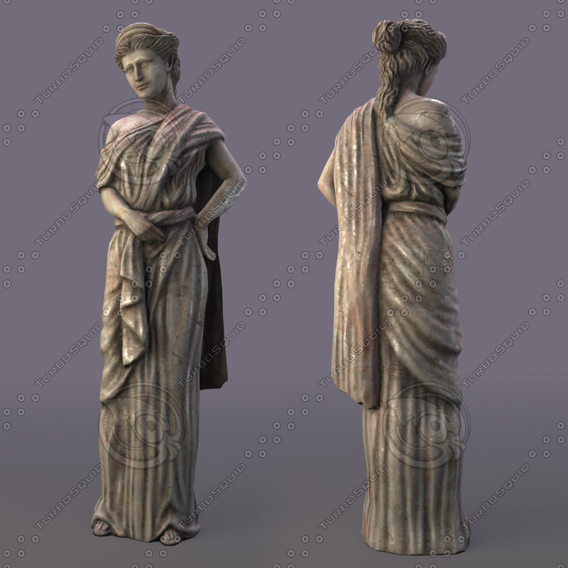 3d sculpture greek model