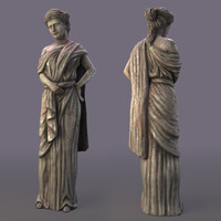 3d sculpture greek model