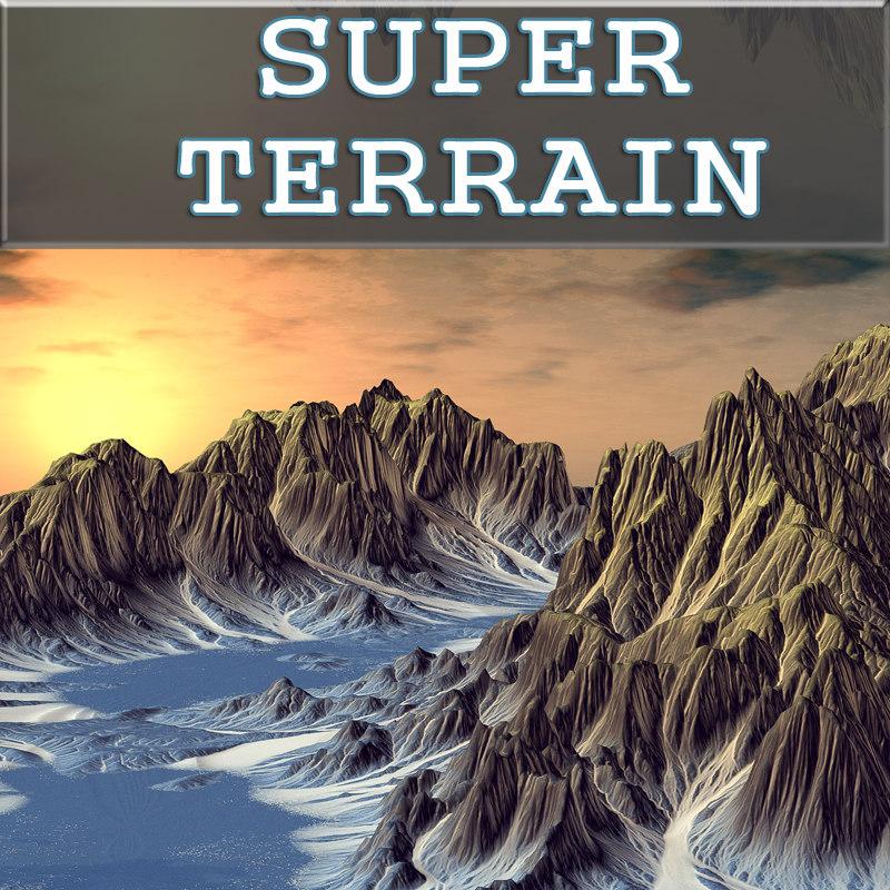 3ds max landscape terrain erosions