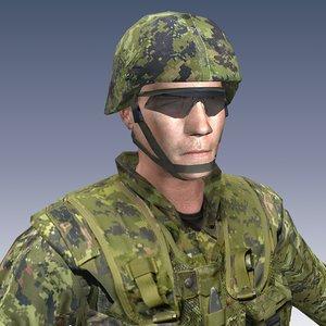 3d model soldier canadian