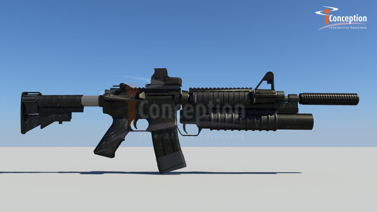 3d m4 model