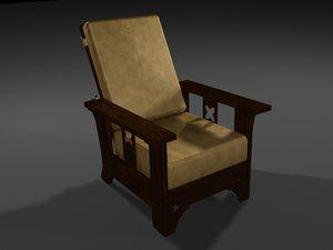 3d wood leather model