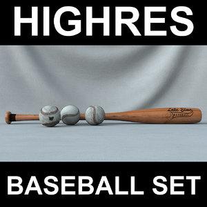 baseball set 3d 3ds