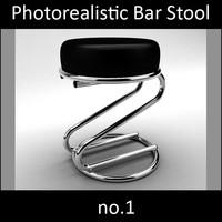 Photorealistic Bar Stool 1 vray materials