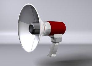 3d megaphone loudspeaker speaker model