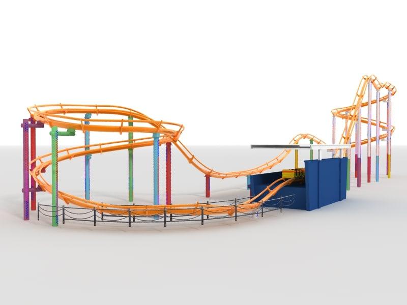 roller coaster 3d model