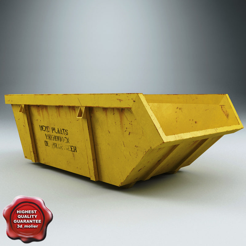 3d rolloff dumpster model