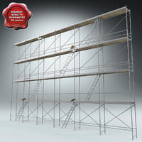 3d scaffold modelled model