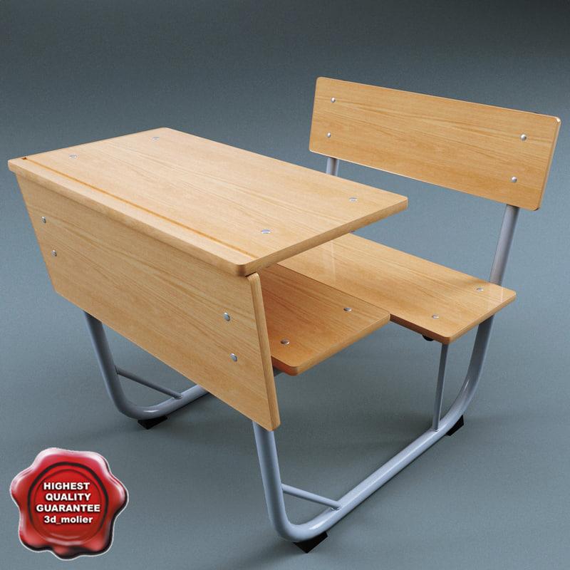 3dsmax school desk v3