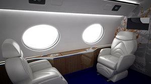 seats jets 3d model