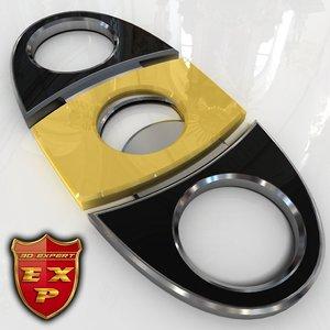 3d cigar guillotine cutter