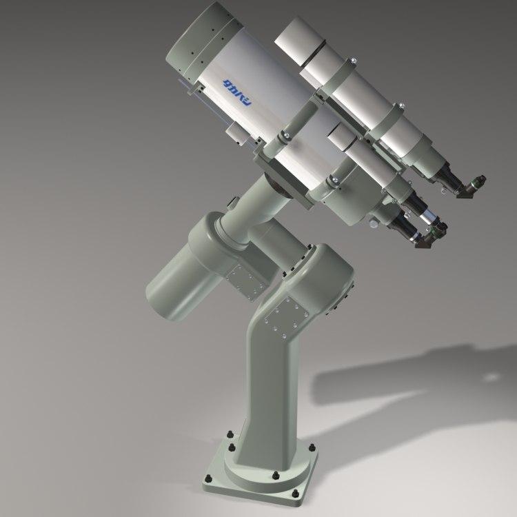 takahashi c400 telescope scope 3d max