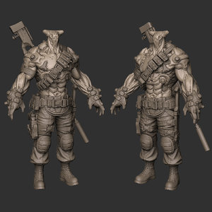 3d military character