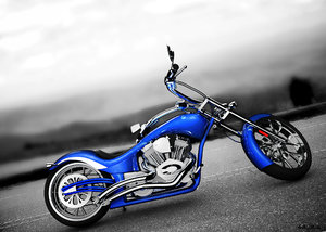 wolf big dog bike 3d obj