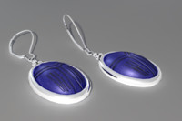 Blue Scarab Earrings