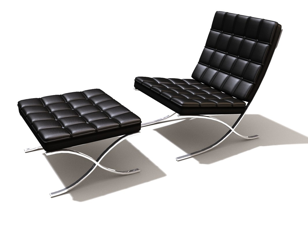 barcelona chair 3d lwo