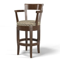 classic traditional country low bar chair counter stool