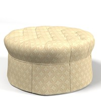 classic traditional upholstery ottoman pouf banquette tufted buttoned round