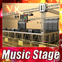 music stage - 3d model