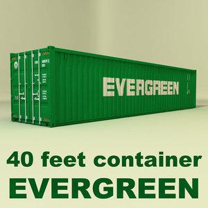 3d model iso cargo 40 ft