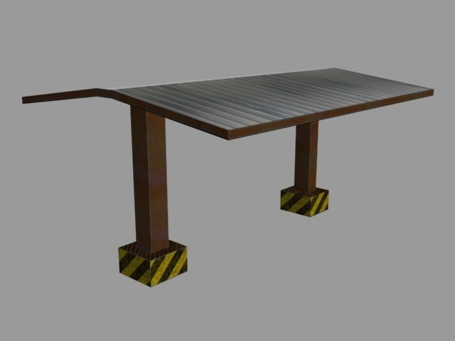 industrial roof 3d x