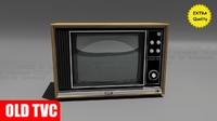 3d model of tvc trinitron