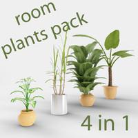 3d model pack plant