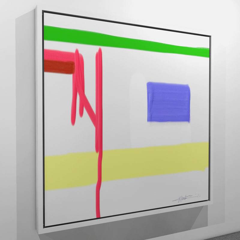 abstract painting 3d max