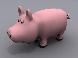 pig animals 3d max