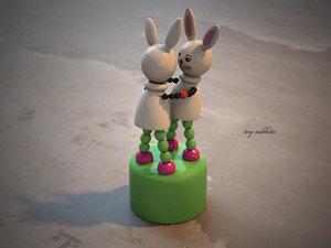 rabbit toy 3d model