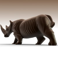 3ds max african rhino