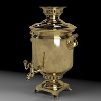 3d russian samovar russia model