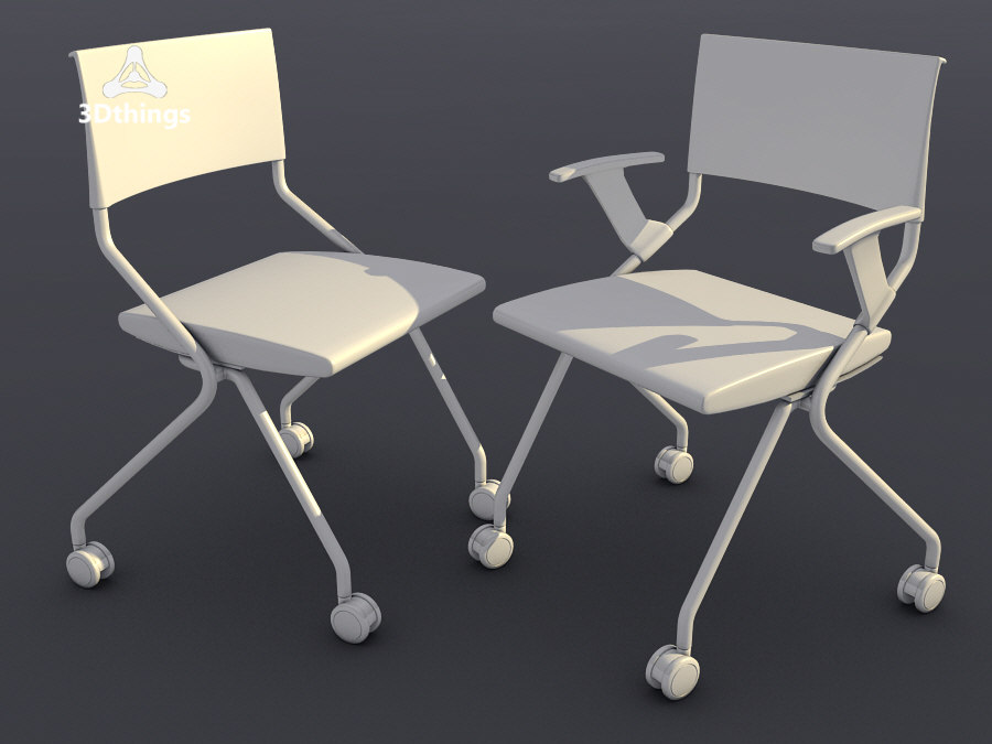 3d conference chairs flip flap model