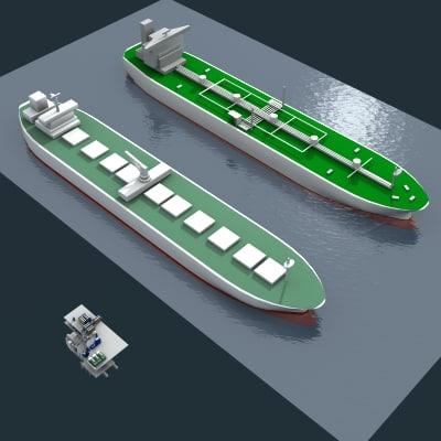 3d tanker cargo model