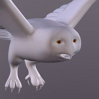 3ds max owl snowy
