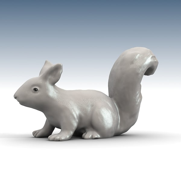 3d model squirrel