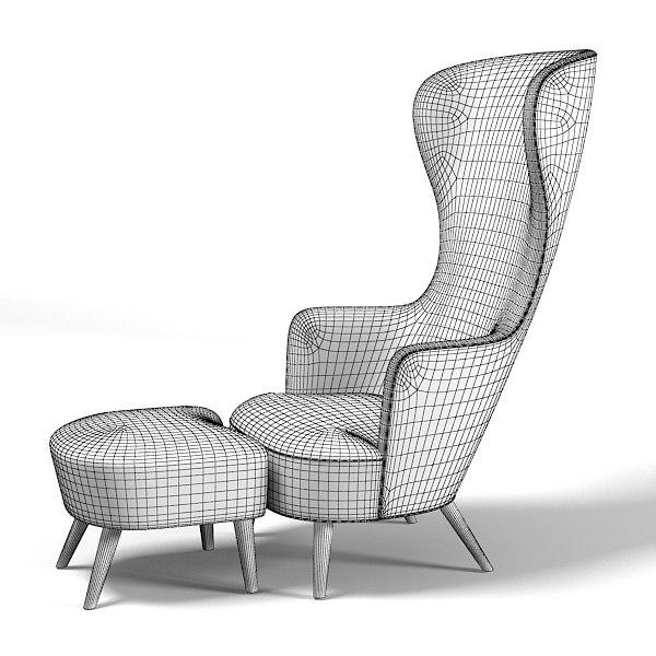 Dixon Wingback D Model - Tom dixon wingback chair