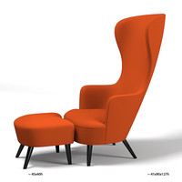 Tom Dixon Wingback Chair with Footstool