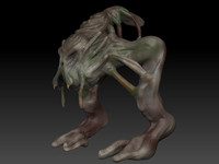 monster creature 3d model