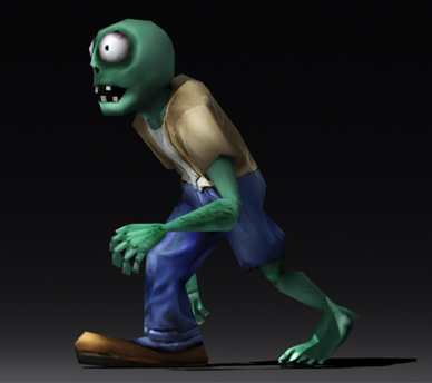zombie games animation 3d model