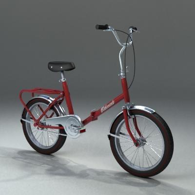 3d antique bike model
