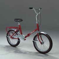 3d antique bike model