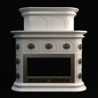 fireplace details interior 3ds