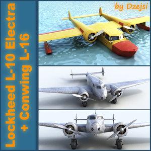 3d model conwing l-16 sea duck