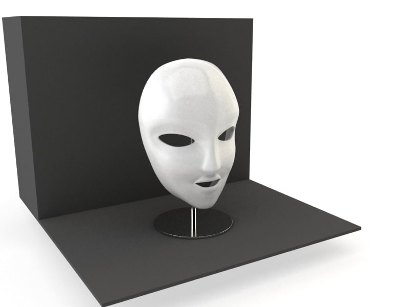 3d model decorative mask